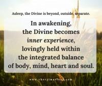Asleep the Divine is Separate by Cheryl Marlene