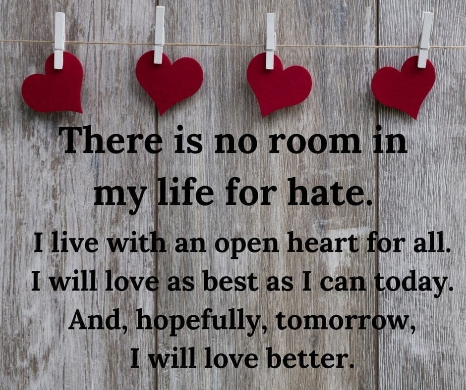 No Room For Hate by Cheryl Marlene