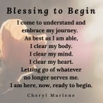 Blessing to Begin by Cheryl Marlene