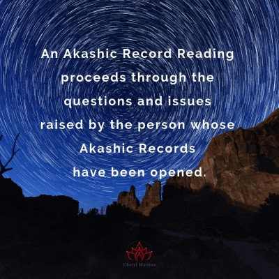 Questions and an Akashic Record Reading by Cheryl Marlene