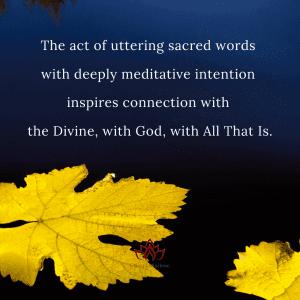 Uttering Sacred Words by Cheryl Marlene
