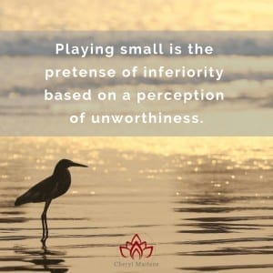 Playing Small and the Akashic Records by Cheryl Marlene