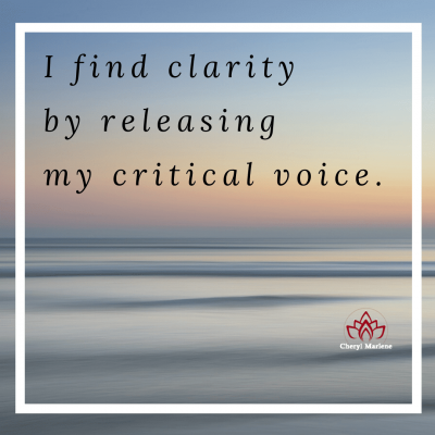 Releasing My Critical Voice by Cheryl Marlene
