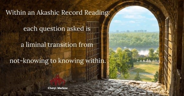 Question as Liminal Transition by Cheryl Marlene