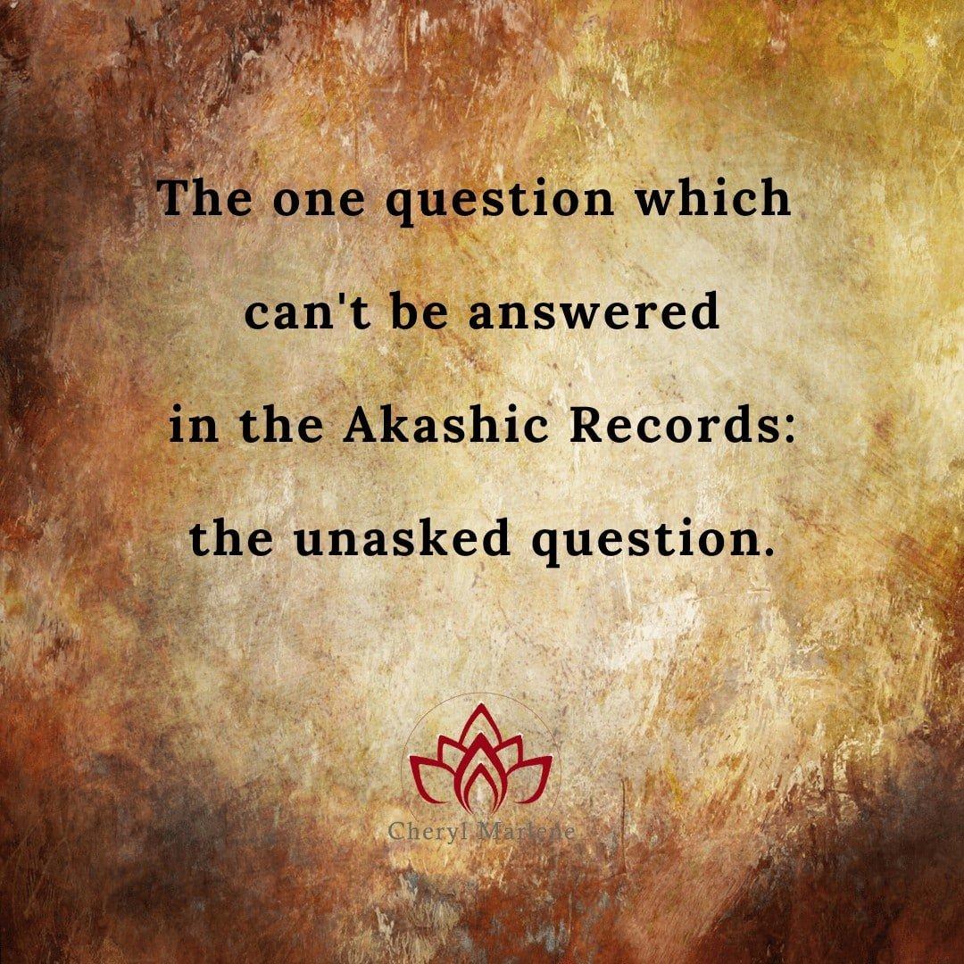 The Unasked Question by Cheryl Marlene