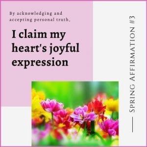 Spring Affirmation Week 3 by Cheryl Marlene