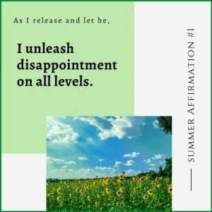 Summer Affirmation Week 1 by Cheryl Marlene