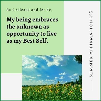 Summer Affirmation Week 12 by Cheryl Marlene