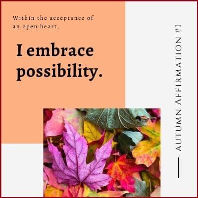 Autumn Affirmation Week 1 by Cheryl Marlene