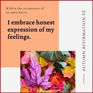 Autumn Affirmation Week 2 by Cheryl Marlene