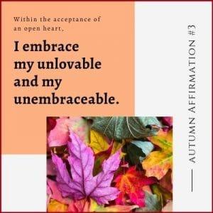 Autumn Affirmation Week 3 by Cheryl Marlene